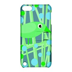 Green Bird Apple Ipod Touch 5 Hardshell Case With Stand by Valentinaart