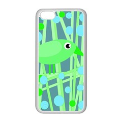 Green Bird Apple Iphone 5c Seamless Case (white) by Valentinaart