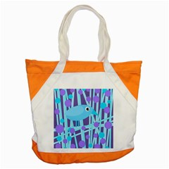 Blue And Purple Bird Accent Tote Bag by Valentinaart