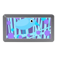 Blue And Purple Bird Memory Card Reader (mini) by Valentinaart