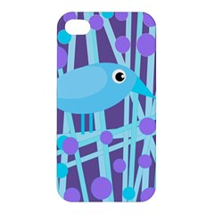 Blue And Purple Bird Apple Iphone 4/4s Hardshell Case by Valentinaart