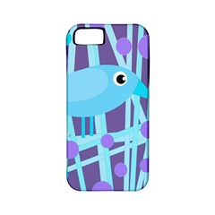 Blue And Purple Bird Apple Iphone 5 Classic Hardshell Case (pc+silicone) by Valentinaart