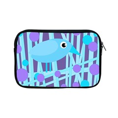 Blue And Purple Bird Apple Ipad Mini Zipper Cases by Valentinaart