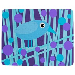 Blue And Purple Bird Jigsaw Puzzle Photo Stand (rectangular) by Valentinaart