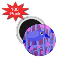 Purple And Blue Bird 1 75  Magnets (100 Pack)  by Valentinaart