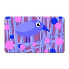 Purple And Blue Bird Magnet (rectangular) by Valentinaart
