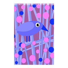 Purple And Blue Bird Shower Curtain 48  X 72  (small)  by Valentinaart