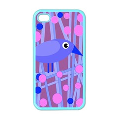 Purple And Blue Bird Apple Iphone 4 Case (color) by Valentinaart