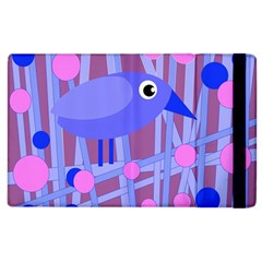 Purple And Blue Bird Apple Ipad 3/4 Flip Case by Valentinaart