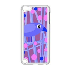 Purple And Blue Bird Apple Ipod Touch 5 Case (white) by Valentinaart