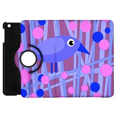 Purple And Blue Bird Apple Ipad Mini Flip 360 Case by Valentinaart