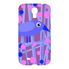 Purple And Blue Bird Samsung Galaxy S4 I9500/i9505 Hardshell Case by Valentinaart