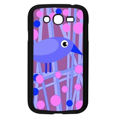 Purple And Blue Bird Samsung Galaxy Grand Duos I9082 Case (black) by Valentinaart