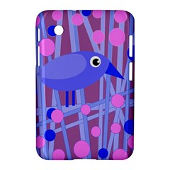 Purple And Blue Bird Samsung Galaxy Tab 2 (7 ) P3100 Hardshell Case  by Valentinaart