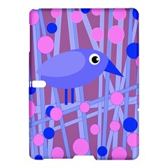 Purple And Blue Bird Samsung Galaxy Tab S (10 5 ) Hardshell Case  by Valentinaart