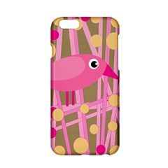 Pink Bird Apple Iphone 6/6s Hardshell Case by Valentinaart