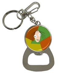 Crazy Girl Bottle Opener Key Chains by Valentinaart