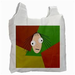 Crazy Girl Recycle Bag (two Side)  by Valentinaart