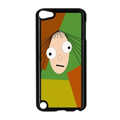 Crazy Girl Apple Ipod Touch 5 Case (black) by Valentinaart