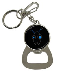 Blue Alien Bottle Opener Key Chains by Valentinaart