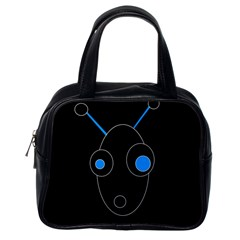 Blue Alien Classic Handbags (one Side) by Valentinaart