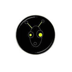 Yellow Alien Hat Clip Ball Marker (4 Pack) by Valentinaart
