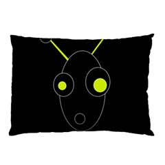 Yellow Alien Pillow Case by Valentinaart