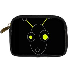 Yellow Alien Digital Camera Cases by Valentinaart