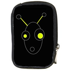 Yellow Alien Compact Camera Cases by Valentinaart