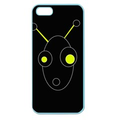 Yellow Alien Apple Seamless Iphone 5 Case (color) by Valentinaart