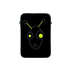Yellow Alien Apple Ipad Mini Protective Soft Cases by Valentinaart