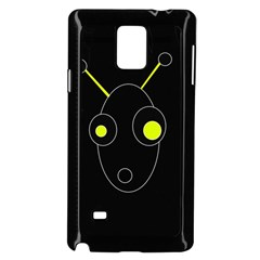 Yellow Alien Samsung Galaxy Note 4 Case (black) by Valentinaart