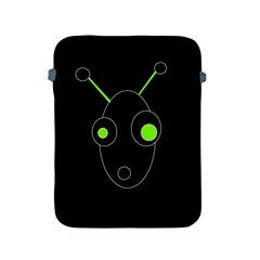Green Alien Apple Ipad 2/3/4 Protective Soft Cases by Valentinaart
