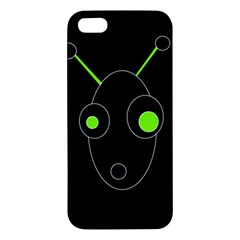 Green Alien Iphone 5s/ Se Premium Hardshell Case by Valentinaart