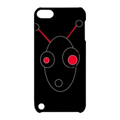 Red Alien Apple Ipod Touch 5 Hardshell Case With Stand by Valentinaart