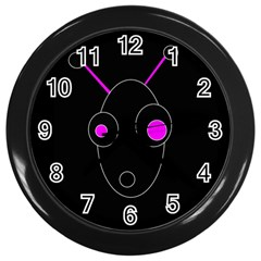 Purple Alien Wall Clocks (black) by Valentinaart