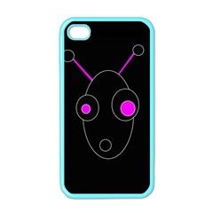 Purple Alien Apple Iphone 4 Case (color) by Valentinaart