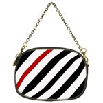 Red, black and white lines Chain Purses (Two Sides)  Front