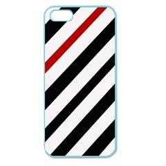 Red, Black And White Lines Apple Seamless Iphone 5 Case (color) by Valentinaart