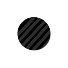 Gray And Black Lines Golf Ball Marker by Valentinaart