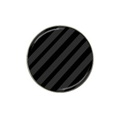 Gray And Black Lines Hat Clip Ball Marker by Valentinaart