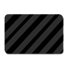 Gray And Black Lines Plate Mats by Valentinaart