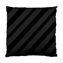 Gray And Black Lines Standard Cushion Case (one Side) by Valentinaart