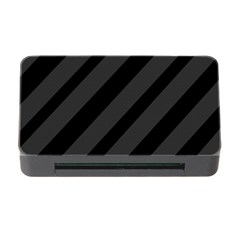 Gray And Black Lines Memory Card Reader With Cf by Valentinaart