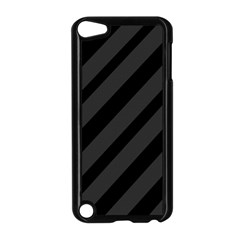 Gray And Black Lines Apple Ipod Touch 5 Case (black) by Valentinaart