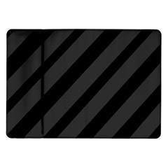 Gray And Black Lines Samsung Galaxy Tab 10 1  P7500 Flip Case by Valentinaart