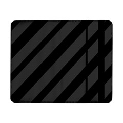 Gray And Black Lines Samsung Galaxy Tab Pro 8 4  Flip Case by Valentinaart