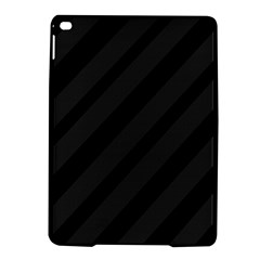 Gray And Black Lines Ipad Air 2 Hardshell Cases by Valentinaart