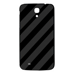 Gray And Black Lines Samsung Galaxy Mega I9200 Hardshell Back Case by Valentinaart