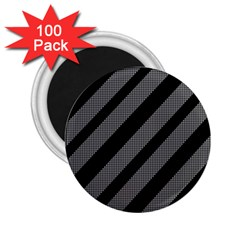 Black And Gray Lines 2 25  Magnets (100 Pack)  by Valentinaart